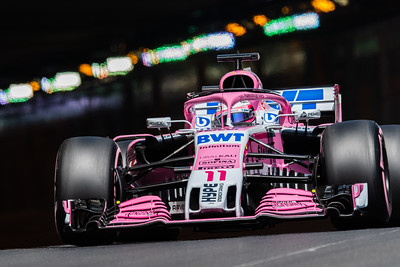 Monte Carlo/Monaco - 05/26/2018 - #11 Sergio PEREZ (MEX) in his Force India VJM11 during qualifying for the 2018 Monaco GP