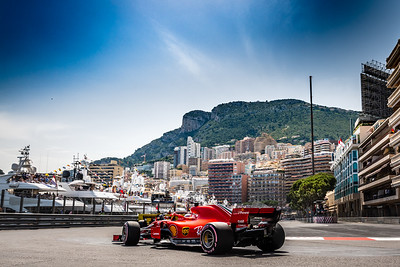 Monte Carlo/Monaco - 05/26/2018 - #5 Sebastian VETTEL (GER) in his Ferrari SH71 during qualifying for the 2018 Monaco Grand Prix