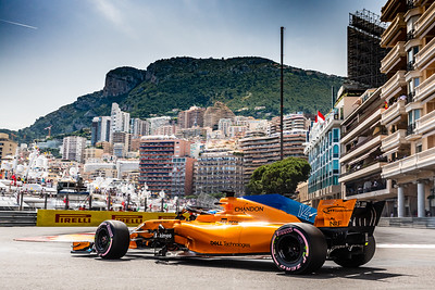 Monte Carlo/Monaco - 05/26/2018 - #14 Fernando ALONSO (SPA) in his McLAREN MCL33 during qualifying for the 2018 Monaco Grand Prix