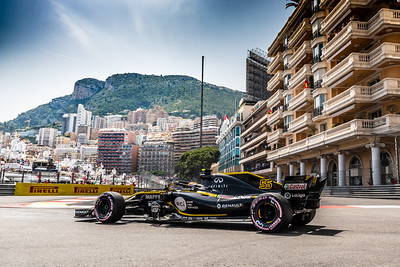 Monte Carlo/Monaco - 05/26/2018 - #55 Carlos SAINZ (SPA) in his Reault R.S.18 during qualifying for the 2018 Monaco GP