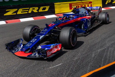 Monte Carlo/Monaco - 05/26/2018 - #10 Pierre GASLY (FRA) in his Toro Rosso Honda STR13 during qualifying for the 2018 Monaco Grand Prix