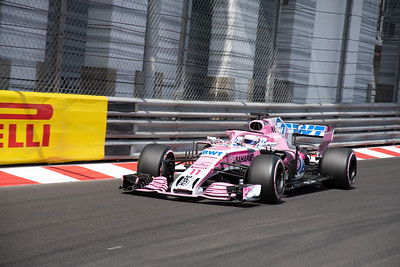 Monte Carlo/Monaco - 05/26/2018 - #11 Sergio PEREZ (MEX) in his Force India VJM11 during qualifying for the 2018 Monaco Grand Prix