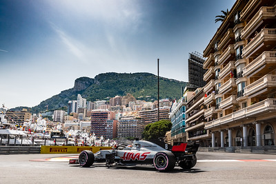 Monte Carlo/Monaco - 05/26/2018 - #8 Romain GROSJEAN (FRA) in his HAAS RVF-18 during qualifying for the 2018 Monaco GP