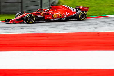 Spielberg/Austria - 06/29/2018 - #5 Sebastian VETTEL (GER) in his Ferrari SH71 during FP2 at the Red Bull Ring ahead of the 2018 Austrian Grand Prix