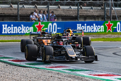 Kevin MAGNUSSEN, Lando NORRIS and Max VERSTAPPEN, Italy/Monza, 2