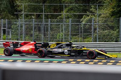 Nico Hulkenberg and Sebastian VETTEL, Italy/Monza, 2019