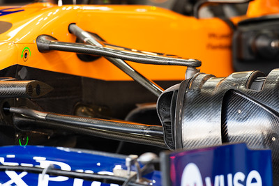 Suspension detail, McLaren F1 Team, UAE, 2019