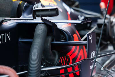Aero elements on the Red Bull RB15 of Alexaner Albon, Aston Martin Red Bull Racing, UAE, 2019