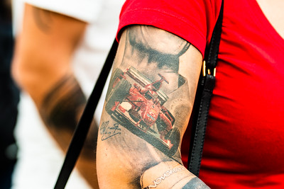 Michael Schumacher tattoo, Abu Dhabi, 2019