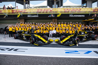 Renault F1 Team, Abu Dhabi, 2019