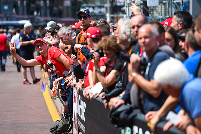 Fans in the pitlane, Monaco 2019