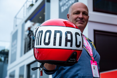 A special helmet in the paddock, Monaco 2019