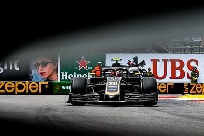 Monte Carlo/Monaco - 23/05/2019 - #20 Kevin MAGNUSSEN (DEN, Haas, VF 19) during FP2 ahead of the 2019 Monaco Grand Prix