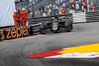 Monte Carlo/Monaco - 23/05/2019 - #8 Romain GROSJEAN (FRA, Haas, VF 19) during FP2 ahead of the 2019 Monaco Grand Prix