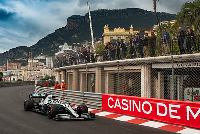 Monte Carlo/Monaco - 23/05/2019 - #44 Lewis HAMILTON (GBR, Mercedes, W10) during FP1 ahead of the 2019 Monaco Grand Prix