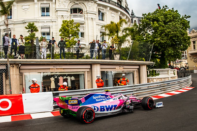 Monte Carlo/Monaco - 23/05/2019 - #18 Lance STROLL (CAN, Racing Point, RP 19) during FP1 ahead of the 2019 Monaco Grand Prix