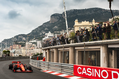 Monte Carlo/Monaco - 23/05/2019 - #5 Sebastian VETTEL (GER, Ferrari, SF90) during FP1 ahead of the 2019 Monaco Grand Prix