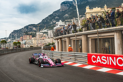 Monte Carlo/Monaco - 23/05/2019 - #11 Sergio PEREZ (MEX, Racing Point, RP 19) during FP1 ahead of the 2019 Monaco Grand Prix