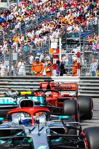 Sebastian VETTEL behind Valtteri BOTTAS, Qualifying, Monaco 2019