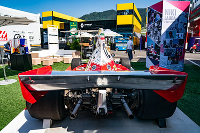 Spielberg/Austria - 27/06/2019 - Niki Lauda's astonishing Ferrari 312 T from 1975 in the Red Bull Ring paddock on Thursday
