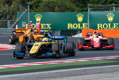 Luca Ghiotto, Mick SCHUMACHER and Jack Aitken, Budapest/Hungary, 2019