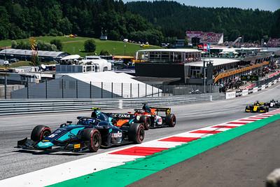 #6 Nicholas Latifi, DAMS and #15 Jack Aitken, Campos Racing, Austria, 2019