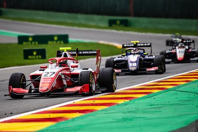 #27 Jehan Daruvala, PREMA and #18 Pedro Piquet, Trident Racing, Belgium, 2019