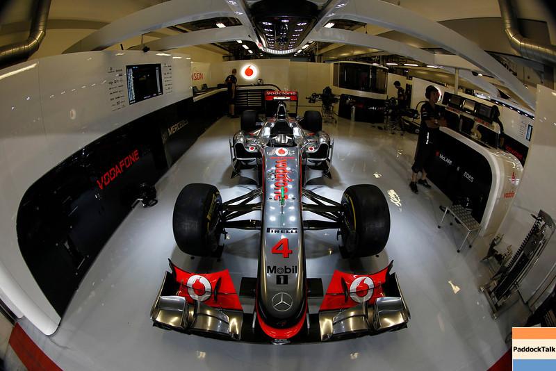 Car of Jenson Button at Abu Dhabi GP
