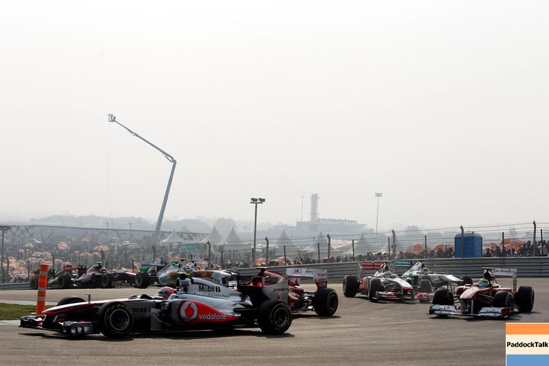 2011 Indian Grand Prix - Sunday<br /> Buddh International Circuit, New Delhi, India.<br /> 30th October 2011.<br /> World Copyright:Glenn Dunbar/LAT Photographic<br /> ref: Digital Image _G7C0484