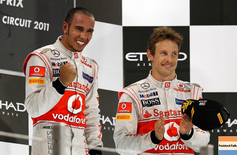 Lewis Hamilton and Jenson Button at Abu Dhabi GP