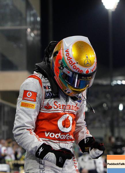 Lewis Hamilton at Abu Dhabi GP