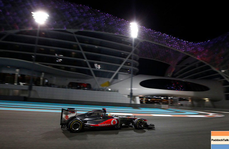 Lewis Hamilton at Abu Dhabi GP