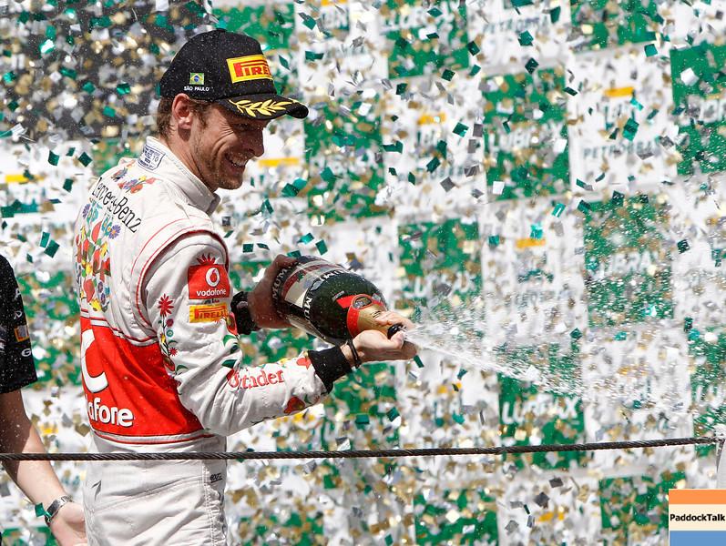 Jenson Button at Brazilian GP