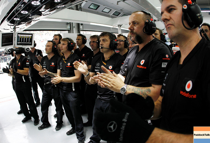 Team of Vodafone McLaren Mercedes at Korean GP