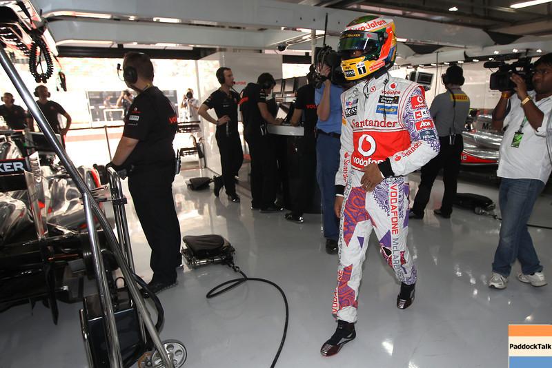 Lewis Hamilton at Indian GP