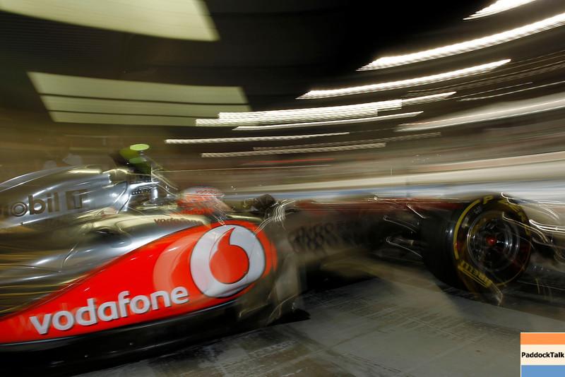 Jenson Button at Abu Dhabi GP