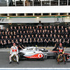 Team of Vodafone McLaren Mercedes with Jenson Button and Lewis Hamilton at Brazilian GP