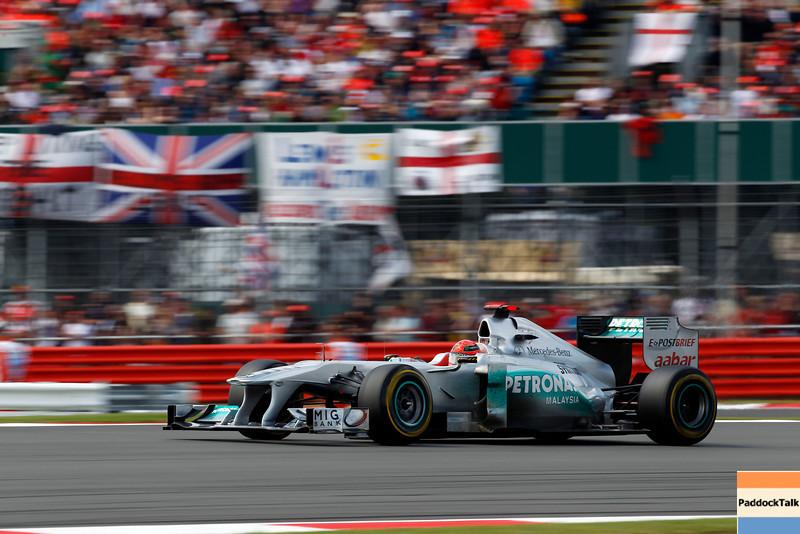 Motorsports: FIA Formula One World Championship 2011, Grand Prix of Great Britain, 07 Michael Schumacher (GER, Mercedes GP Petronas F1 Team),