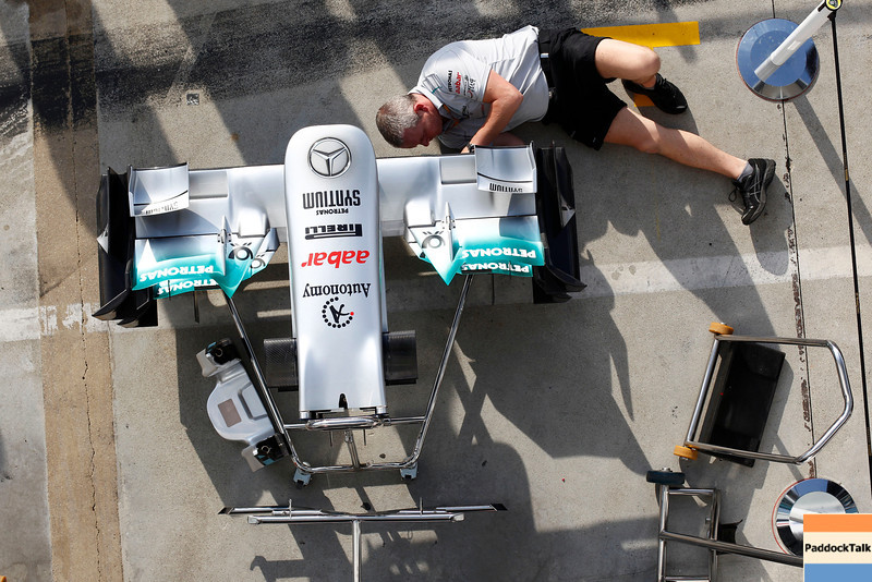 Motorsports: FIA Formula One World Championship 2011, Grand Prix of Italy, technical detail, front wing, Mercedes GP Petronas F1 Team