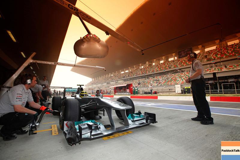 Motorsports: FIA Formula One World Championship 2011, Grand Prix of India, 08 Nico Rosberg (GER, Mercedes GP Petronas F1 Team),