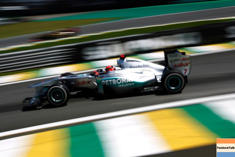 Motorsports: FIA Formula One World Championship 2011, Grand Prix of Brazil, 07 Michael Schumacher (GER, Mercedes GP Petronas F1 Team),