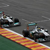 Motorsports: FIA Formula One World Championship 2011, Grand Prix of Belgium, 07 Michael Schumacher (GER, Mercedes GP Petronas F1 Team),   08 Nico Rosberg (GER, Mercedes GP Petronas F1 Team),