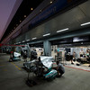Motorsports: FIA Formula One World Championship 2011, Grand Prix of India, garage of Mercedes GP Petronas F1 Team