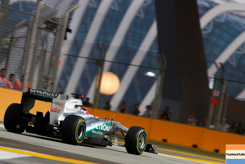 Motorsports: FIA Formula One World Championship 2011, Grand Prix of Singapore, 07 Michael Schumacher (GER, Mercedes GP Petronas F1 Team),