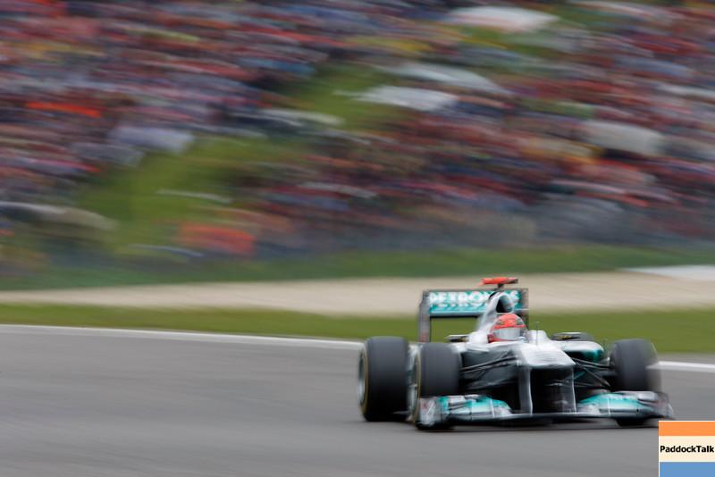 "Motorsports: FIA Formula One World Championship 2011, Grand Prix of Germany, 07 Michael Schumacher (GER, Mercedes GP Petronas F1 Team),  *** Local Caption *** +++  <a href=""http://www.hoch-zwei.net"">http://www.hoch-zwei.net</a> +++ copyright: HOCH ZWEI / Thomas Suer +++"