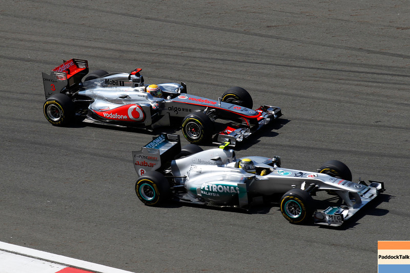 Motorsports: FIA Formula One World Championship 2011, Grand Prix of Turkey, 03 Lewis Hamilton (GBR, Vodafone McLaren Mercedes), 08 Nico Rosberg (GER, Mercedes GP Petronas F1 Team),