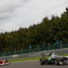 Motorsports: FIA Formula One World Championship 2011, Grand Prix of Belgium, 08 Nico Rosberg (GER, Mercedes GP Petronas F1 Team), 05 Fernando Alonso (ESP, Scuderia Ferrari Marlboro),