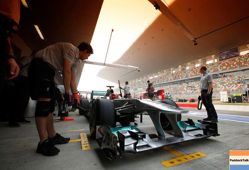 Motorsports: FIA Formula One World Championship 2011, Grand Prix of India, 07 Michael Schumacher (GER, Mercedes GP Petronas F1 Team),