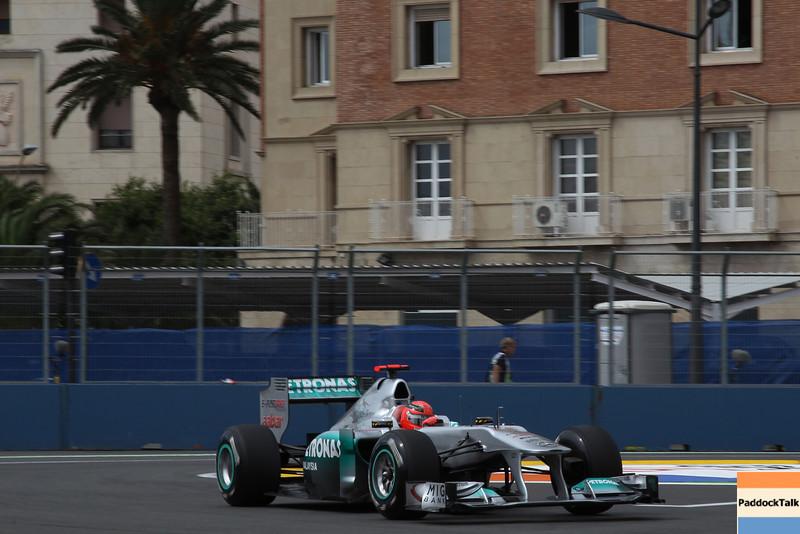 Motorsports: FIA Formula One World Championship 2011, Grand Prix of Europe, 07 Michael Schumacher (GER, Mercedes GP Petronas F1 Team),