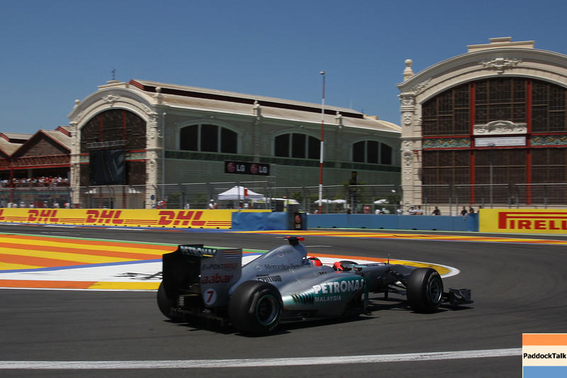 Motorsports: FIA Formula One World Championship 2011, Grand Prix of Europe,  07 Michael Schumacher (GER, Mercedes GP Petronas),